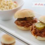4th of july sliders + chipotle mac