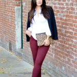 oxblood and animal print for fall