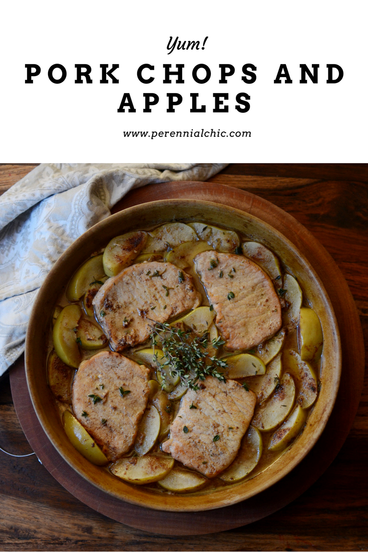 Porkchops apples